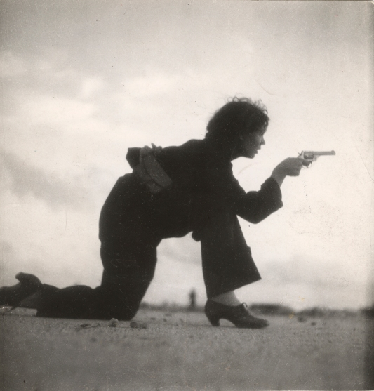Gerda Taro - Republican militiawoman training on the beach, outside Barcelona, August 1936 © International Center of Photography