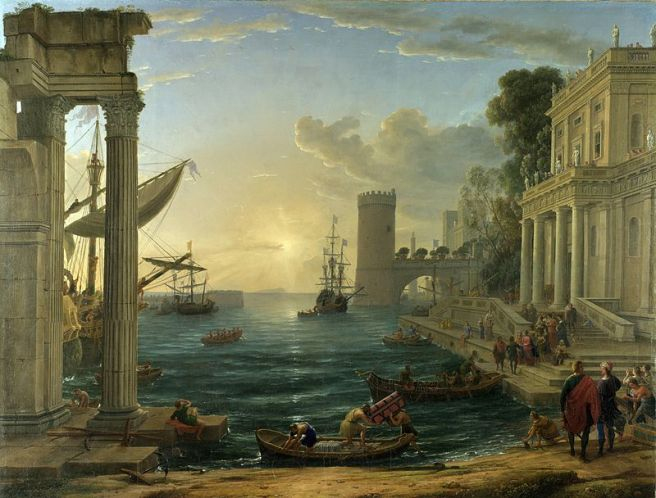 The Embarkation of the Queen of Sheba (1648), National Gallery
