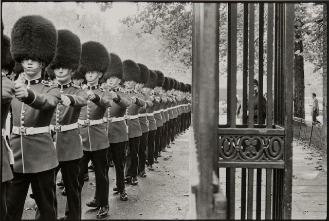 Queen's Guard Marching, 1960. Photograph by Bruce Davidson/Magnum Photos