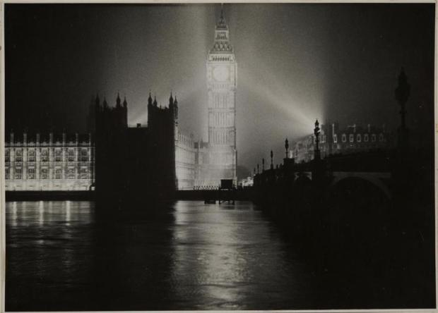 Felix Man, '10 years ago, Victory Day, The lights go up in London 1945