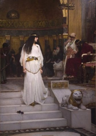 John William Waterhouse: Mariamne Leaving the Judgement Seat of Herod - 1887