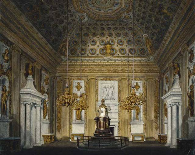 The Cupola Room, Kensington Palace (c. 1817), R Cattermole. Royal Collection Trust © Her Majesty Queen Elizabeth II 2013