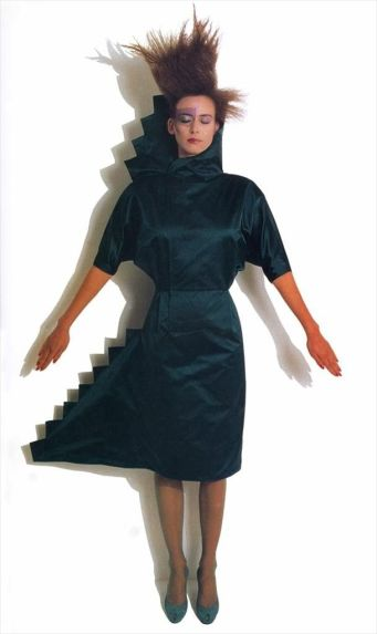 Cinzia Ruggeri, Homage to Lévi-Strauss dress, A/W collection 1983–4. © V&A Images.
