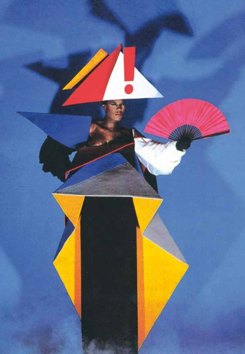 Grace Jones maternity dress 1979 © Jean-Paul Goude.