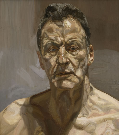 Lucien Freud Sel Portrait 1985. Private collection. On loan to the Irish Museum of Modern Art, IMMA Collection Freud Project 2016-2021 © The Lucian Freud Archive Bridgeman Images.