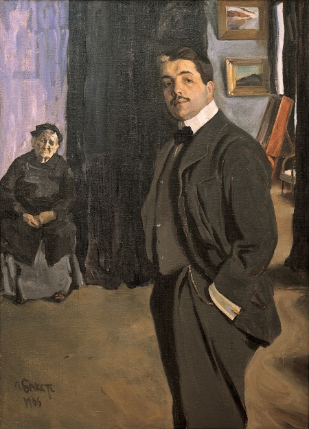 From Russia: French and Russian Master Paintings 1870-1925 from Moscow and St Petersburg 26 January 2008 to 18 April 2008 Key. 87 / Cat. 0 L??on Bakst Portrait of Sergei Diaghilev with His Nanny, 1906 Oil on canvas 161 x 116 cm The State Russian Museum, St Petersburg Photo ?? The State Russian Museum, St Petersburg
