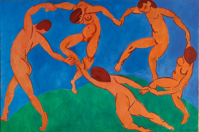 Henri Matisse - The Dance – 1910- olio su tela- 260 x 391 cm Museo di Stato dell'Ermitage, San Pietroburgo – courtesy of Photo Archives Matisse, Paris.