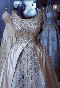 The Queen's dress by Norman Hartnell,  Photo Getty