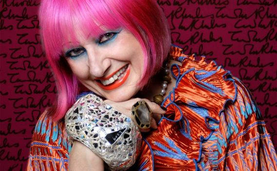 Zandra Rhodes Photograph by Gene Nocon