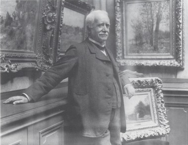 Photograph of Paul Durand-Ruel in his gallery, taken by Dornac,