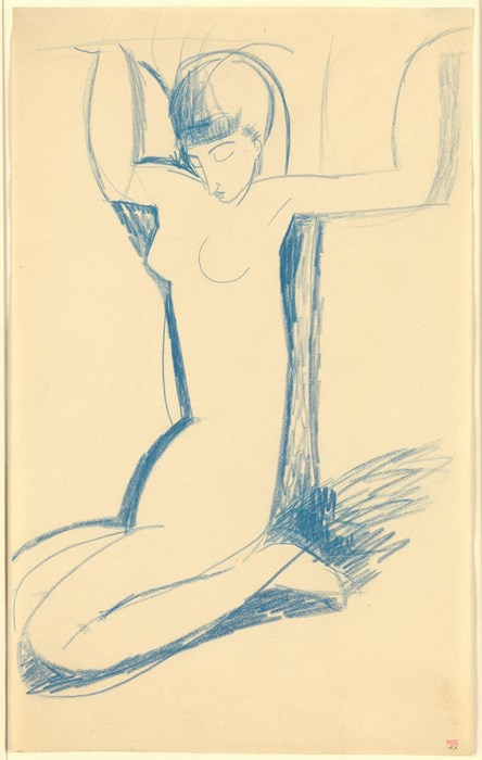 Modigliani, Kneeling Blue Caryatid, c.1911Courtesy of Richard Nathanson, London