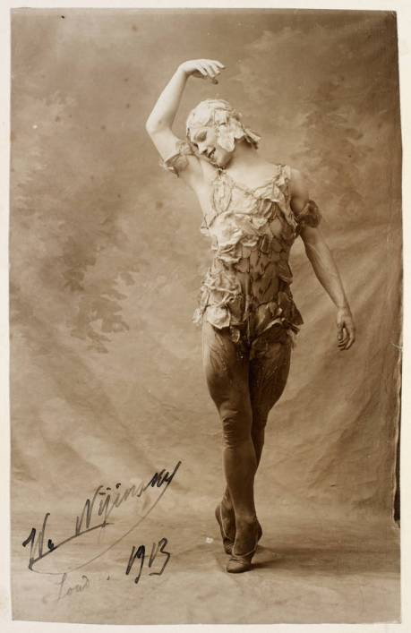 Vaslav Nijinsky in Le Spectre de la Rose, by Bert, 1913. Valentine Gross Archive, © Victoria & Albert Museum, London