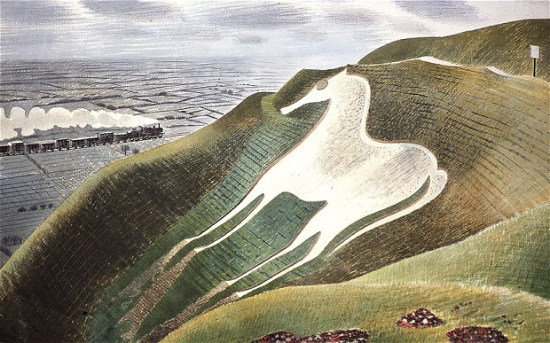 The Westbury Horse' by Eric Ravilious, 1939, watercolour on paper
