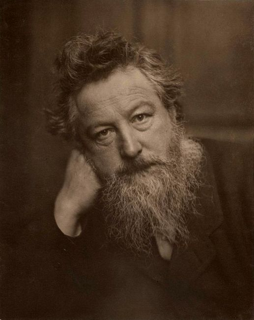 William Morris, photographed by Frederick Hollyer in 1884. Photograph © National Portrait Gallery