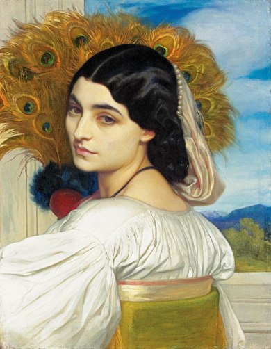Artist Frederic, Lord Leighton – Pavonia- 1858-59 © Private Collection co Christie
