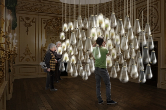 'Curiosity Cloud' by mischer'traxler for Champagne Perrier-Jouët, image courtesy of the London Design Festival