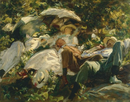John Singer Sargent- Group with Parasols, c.1904–5. Copyright: Private collection