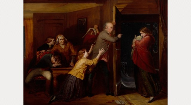 The Outcast by Richard Redgrave, RA. 1851. Royal Academy of the Arts, London.