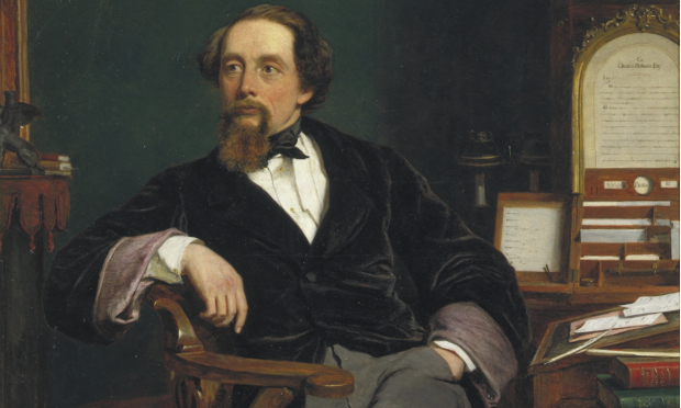 Charles Dickens in his study 1859 by William Powell Frith, London