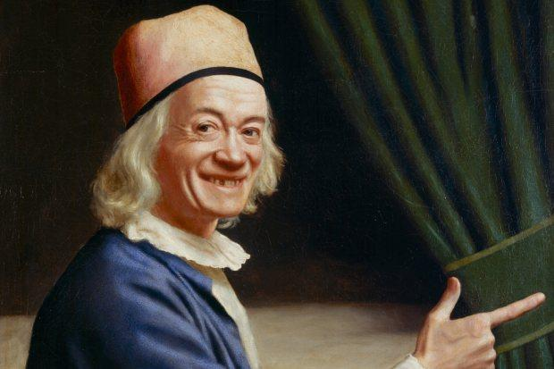 Jean-Etienne Liotard's Self-Portrait Laughing, c1770. Photograph: Bettina Jacot-Descombes/Musee d'art et d'histoire, Geneva