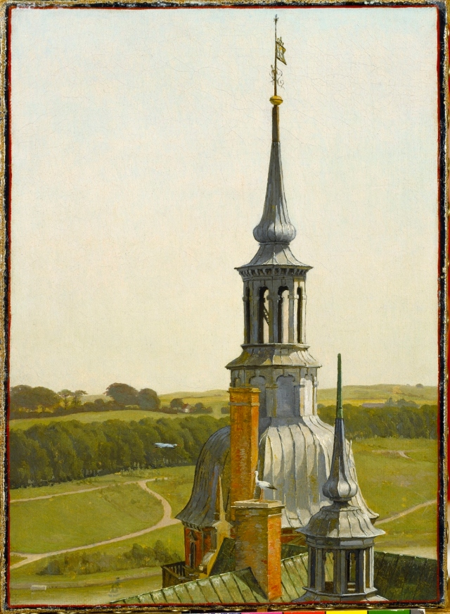 One of the Small towers on Frederiksborg Castle, about 1834.