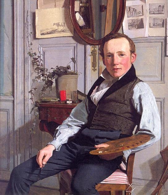 Christen Købke - Ritratto di Frederik Hansen Sødring – 1832 - Den Hirschsprungske Samling, Copenhagen.