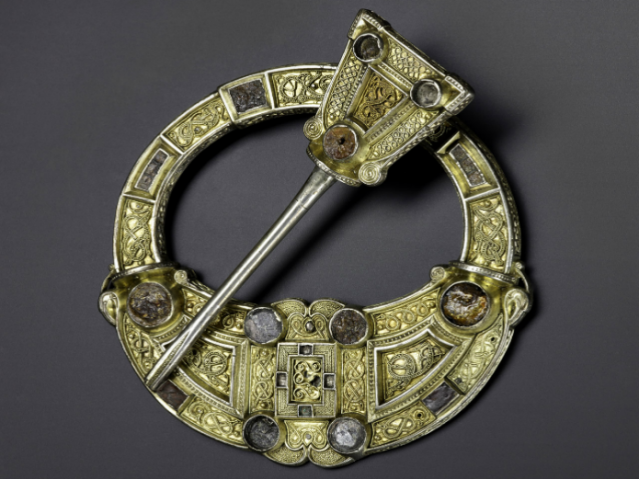Hunterston brooch, Silver, gold and amber, Hunterston, south-west Scotland, AD 700–800. Photo © National Museums Scotland.