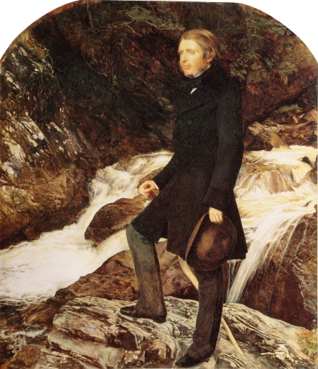 John Ruskin standing at Glenfinlas, Scotland, by John Everett Millais(1853–54)