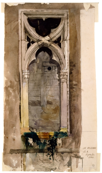 John Ruskin Watercolour 1845