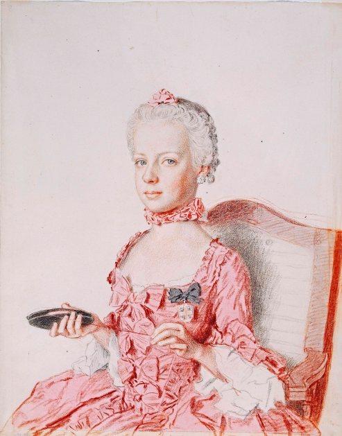 Jean-Etienne Liotard, Archduchess Marie-Antoinette of Austria, 1762 Cabinet d'arts graphiques des Musees d'art et d'histoire, Geneva. Photo Musee d'art et d'histoire, Geneva. Photography: Bettina Jacot-Descombes