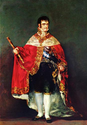 Portrait of Ferdinand VII, Francisco Goya, 1814. Museo del Prado, Madrid, Spain
