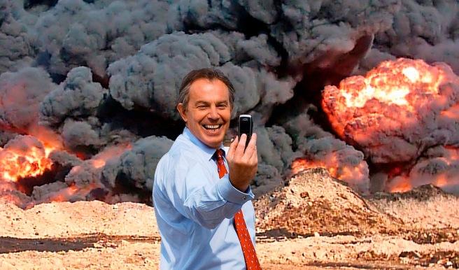 """""""Photo Op"""" – a satirical anti-war photomontage artwork created by KennardPhillipps"""