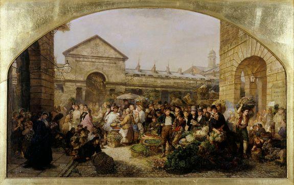 Covent Garden Market, Phoebus Levin, 1864. Museum of London.