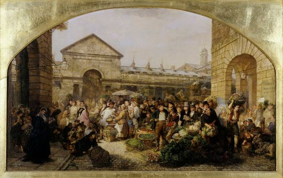 Covent Garden Market, Phoebus Levin, 1864. Museum of London.