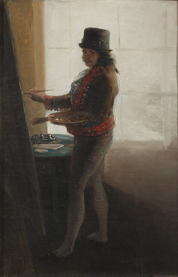 Self-Portrait Before an Easel, 1792-5 © Museo de la Real Academia de Bellas Artes de San Fernando, Madrid