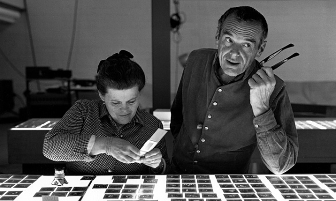 Ray and Charles Eames at the office Photograph Eames Office