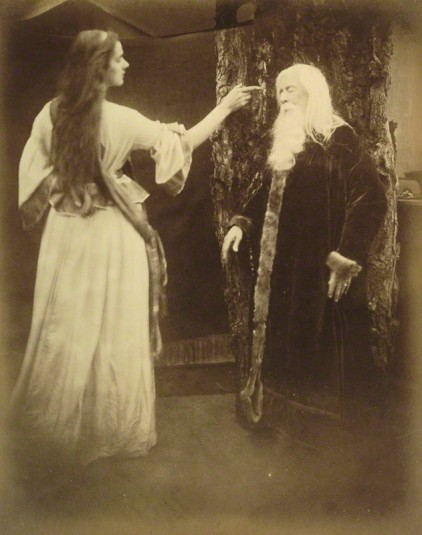 'Vivien and Merlin' (Agnes Mangles (Lady Chapman); Charles Hay Cameron) by Julia Margaret Cameron, 1874 © National Portrait Gallery, London