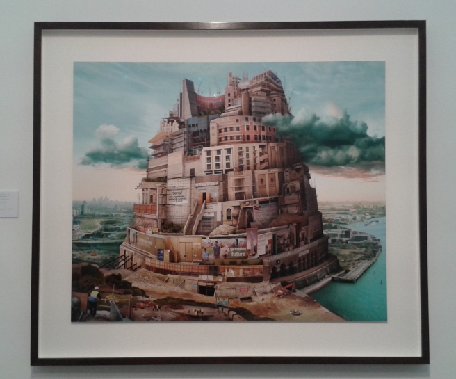 Emily Allchurch, London Babel (after Bruegel) 2015. GBS Fine Art