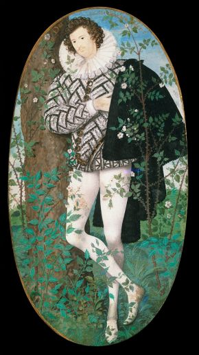 Hilliard, Nicholas: A Young Man Among Roses, watercolour miniature by Nicholas Hilliard, c. 1588; in the Victoria and Albert Museum, London.