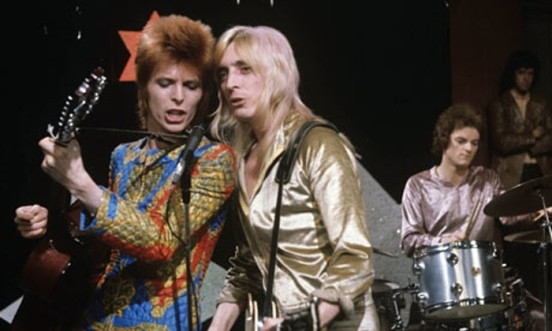 David Bowie performing Starman on Top of the Pops.Photograph: ITV / Rex Features/Rex Features