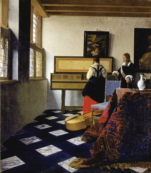 Johannes Vermeer - Lady at the Virginal with a Gentleman, 'The Music Lesson' London, Royal Collection