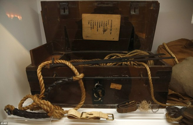 Memorabilia Execution box No.9 from Wandsworth Prison, which was sent around Britain to be used as required