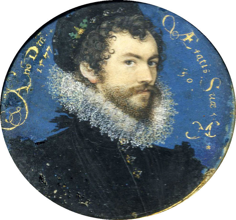 Nicholas Hilliard, Self-Portrait, 1577.