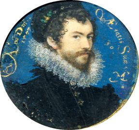 Nicholas Hilliard, Self-Portrait, 1577.
