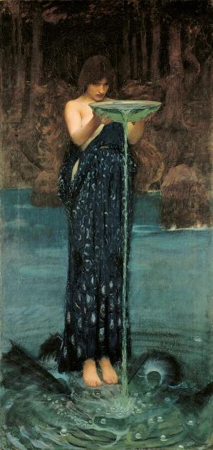 John William Waterhouse Circe Invidiosa: Circe Poisoning the Sea, 1892. Art Gallery of South Australia