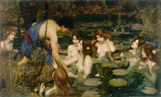 John William Waterhouse- Hylas and the Nymphs- 1896- Olio su tela- 98.2 x 163.3 cm- Manchester City Galleries. Purchased 1896-Photo copyright Manchester City Galleries