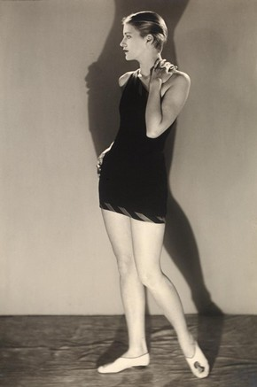 Lee Miller in bathing costume, photograph by Man Ray, 20th century © Victoria and Albert Museum, London