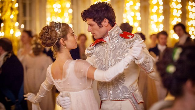 Lily James and James Norton in War and Peace
