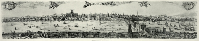 A panorama of London by Claes Visscher, 1616.