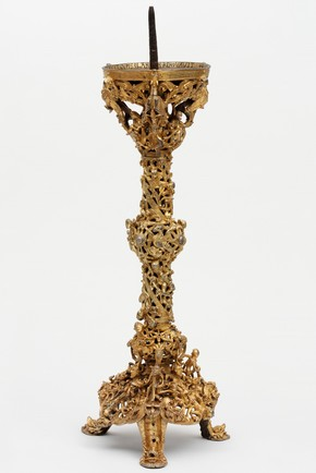 Gilded copper alloy candlestick, known as the 'Gloucester Candlestick', England, UK, early 12th century. Museum no. 7649-1861